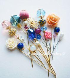 17 Dusky Pink Opal - Empress Collection Pins
