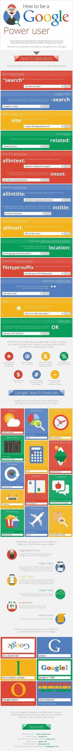 46 Hidden Tips and Tricks to Use Google Search Like a Boss: Infographic | Education Matters - (tech and non-tech) | Scoop.it