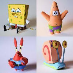 Tektonten Papercraft - Free Papercraft, Paper Models and Paper Toys: SpongeBob SquarePants Papercraft Roundup