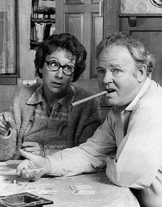 Edith and Archie Bunker from All in the Family