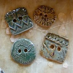Sharilyn Miller glazed stoneware buttons