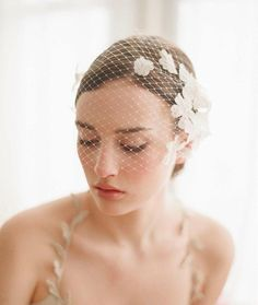 Beautiful 2015 Tiaras & Hair Accessories Birdcage Short Face Veils Bridal Wedding Stone For Bridal Headpiece Bride Hair Headpieces Handmade Flowers will frame your face on your special day. Quantity: