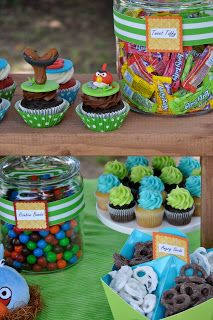 blue cupcake: Angry Birds and other games