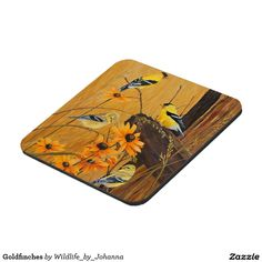"""Goldfinches Beverage Coasters. Designed and created from original oil painting """"Golden Treasures"""" by Johanna Lerwick Wildlife/Nature Artist."""