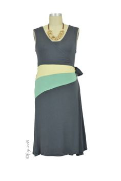 Claire Faux Wrap Colorblock Nursing Dress in Grey.Please use coupon code NewProducts to receive 15% off these items. To receive the discount, please place your order by midnight Monday, March 23.