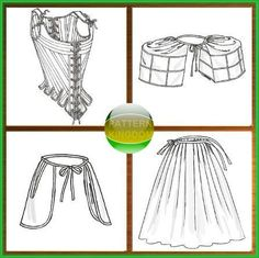 Butterick 4484 18th/19th Century Corset & Underpinnings Patterns