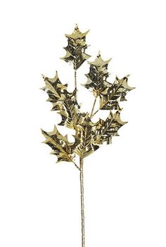 Styled Sealed Delivered- Gold Holly Spray - Christmas decoration | table garland