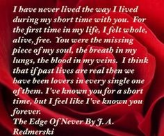 The Edge of Never one of my favorite books of all times