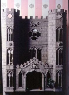 gothic doll house   Gothic castle doll's house, copy of the - as art print or hand painted ...