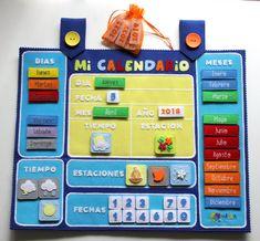 Calendario 2.0 - miTEA mentes geniales Preschool Calendar, Classroom Calendar, Calendar Time, Kids Calendar, Preschool Decor, Preschool Learning, Infant Activities, Activities For Kids, Kids Planner
