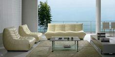 Divani Casa Leather Sofa Love Set $2,298