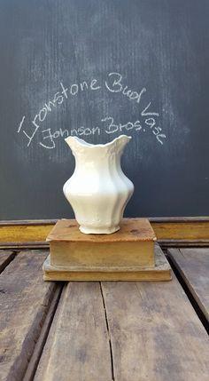 Antique Ironstone Bud Vase, Johnson Brothers Royal Ironstone China by ElisabethMacBeth on Etsy