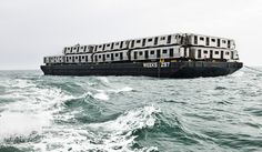 """Turning broken down subway cars into an artificial reef (pictures of the process and the """"reef"""" 5 and 10 years later."""