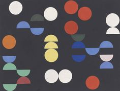 Sophie Taeuber-Arp, Composition with circles and semicircles, 1938 •