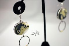 Polymer Clay Earrings  NINA Collection  WEARABLE ART by shankas, $18.00
