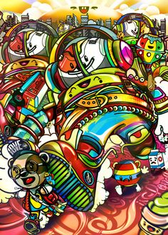 Collection illustration /3 by ChocoToy , via Behance