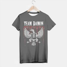 Team Damon Blood Crest T-Shirt Live Heroes