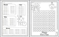 Free Tens and Ones Mystery Picture 2013 (Hundred Chart Art) from Teach With Laughter