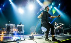 Imagine Dragons performed at the first night of the Holiday Havoc concert inside The Joint at Hard Rock Hotel & Casino on December 11, 2014.