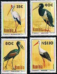 Namibia 1994 Storks Birds Set Fine Mint SG 644 7 Scott 762 5 Other African and British Commonwealth Stamps HERE!