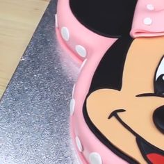 The time is always right for a Minnie Mouse cake! The time is always right for a Minnie Mouse cake! Bolo Do Mickey Mouse, Minnie Mouse Cookies, Minnie Mouse Birthday Cakes, Bolo Minnie, Minnie Cake, Novelty Birthday Cakes, Adult Birthday Cakes, Minnie Mouse Party, Cake Birthday