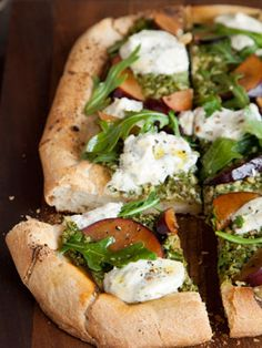 Seattle Celeb Chef Makini Howellâ€'s Pesto Plum Pizza : Proof that plant-based meals aren't all boring and bland. #SelfMagazine
