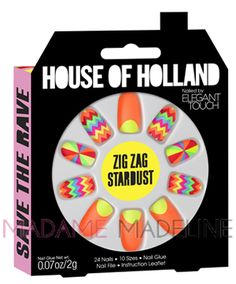 House Of Holland Nails By Elegant Touch - ZIG ZAG
