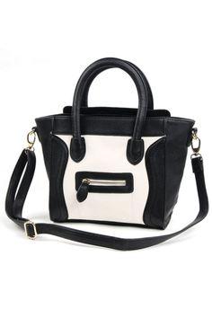 Sweet Color Block Smile Face Bag OASAP.com