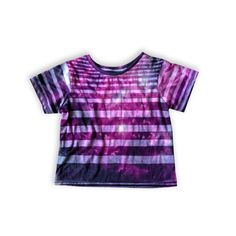 A personal favorite from my Etsy shop https://www.etsy.com/listing/252831064/purple-striped-galaxy-tee-lightweight