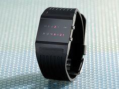 "Leonhard Binär-Armbanduhr ""Future Line"" für Herren Cyber Ninja, Smart Watch, Fitbit, Marvel, Gifts, Future, Style, Clocks, Highlights"