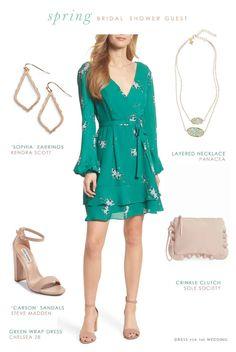 Outfits to wear to  bridal shower as a guest   #weddingseason #bridalshower #guestutfit #cutedresses #greendress