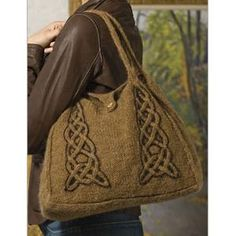 Celtic Cable Knitting Pattern | Ladies' Celtic Tote Knitting Pattern - Knitting Pattern - Planet Purl