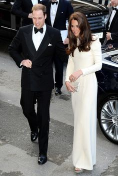 Prince William, Duke of Cambridge and Catherine, Duchess of Cambridge arrive at Claridge's hotel to attend a black tie event hosted by the Thirty Club of London where William will be addressing some of the most powerful men and women in media and advertising.