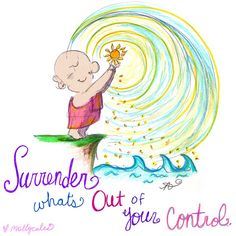'Surrender' - Today's Buddha Doodle    Lift your heart a little higher, soften the places of worry, and trust in your brilliance! so much love, mollycules