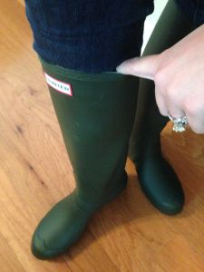 For all the wide calf ladies out there, Hunter Adjustable Tall ...