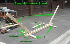 Easy Hammock Stand. Save Learn more at media-cache-ak0.pinimg.com