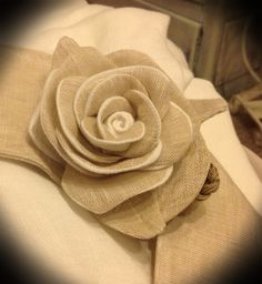 Ambrasse per tende in lino provenzali