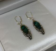 Vintage Ohrhänger - Antike Abalone Muschel Ohrringe Silber 835 SO231 - ein Designerstück von Atelier-Regina bei DaWanda