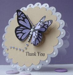 Butterfly Thank You on Acetate | Flickr - Photo Sharing!