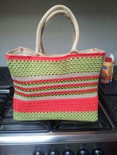 48991461f47 10 beste afbeeldingen van Tas omhaken - Crochet bags, Crochet purses ...
