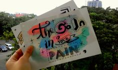 "Hand lettering ""The GAIN in your PAIN"""
