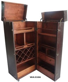 """Fantastic """"bar cart decor inspiration"""" information is available on our site. Check it out and you will not be sorry you did. Wooden Trunks, Old Trunks, Folding Furniture, Bar Furniture, Dream Furniture, Painted Furniture, Furniture Design, Trendy Bar, Campaign Furniture"""