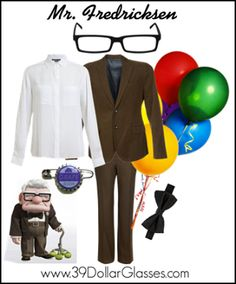 You're never too old for an adventure! Get dressed UP this Halloween as everyone's favorite grump, Mr Fredricksen! Featuring Fulton glasses from 39DollarGlasses.com.