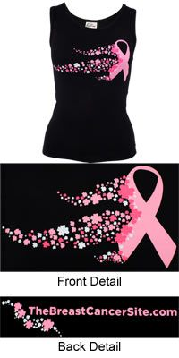 Flower Festival Pink Ribbon Tank Top at The Breast Cancer Site