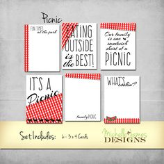 Project Life Inspired Picnic Scrapbooking Kit by MichelleJamesDigital on Etsy