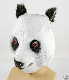We can all wear panda masks...These are available for purchase.