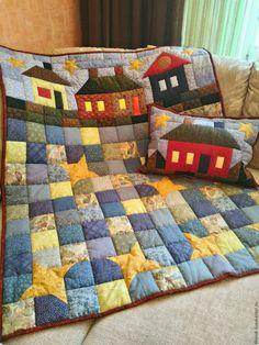 """Купить Лоскутное одеяло """"Дом для звездочки"""" - лоскутное одеяло, лоскутное покрывало, лоскутное шитье, пэчворк"""