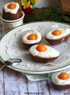 Süße Ostereier mit Kokoscreme