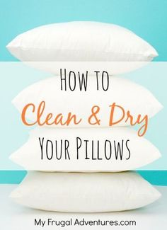 How to wash and dry pillows   Spring cleaning ideas from My Frugal Adventures, featured on Gooseberry Patch
