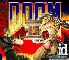 Doom 2 for GBA Main Menu Screen